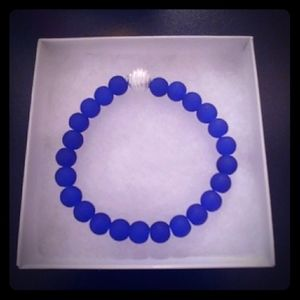 Chicago Blue Crystal Matte Bracelet